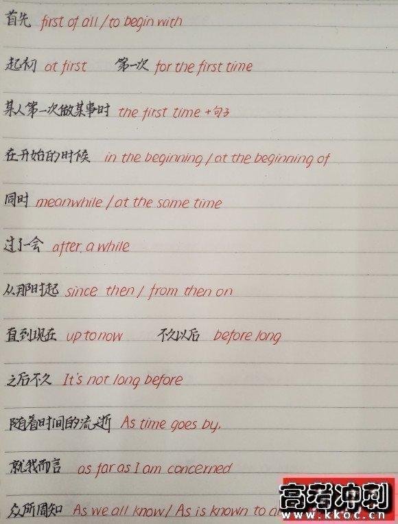 衡水中学英语书写字体 学霸手写英语作文万能句