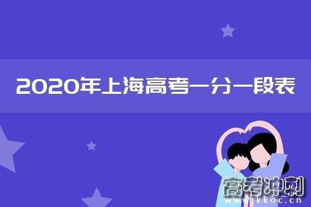 2020上海高考一分一段表 艺术体育类成绩排名汇总