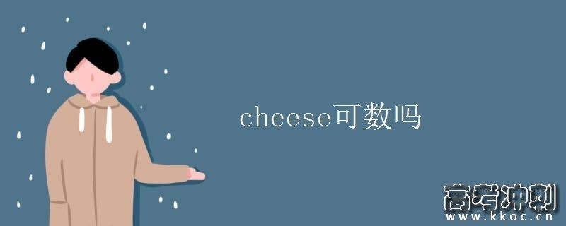 cheese可数吗